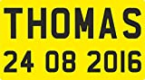 FSSS Ltd ENGRAVED NP NUMBER PLATES FOR CHILDRENS LITTLE TIKES COZY COUPE RIDE ON TOYS (YELLOW)