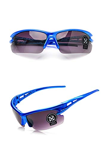 Yiph-Sunglass Sonnenbrillen Mode Im Freiensportmannfrau, die windundurchlässige Sandgebirgsfahrradsport-Schutzbrillen-Fahrradausrüstung explosionsgeschützte Gläser radfährt (Color : Blue)