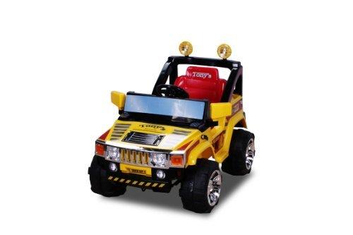 Preisvergleich Produktbild Elektro Kinderauto Hummer Jeep A30 mit 2 x 35 Watt Motor Elektro Kinderauto Kinderfahrzeug in mehreren Farben (gelb)
