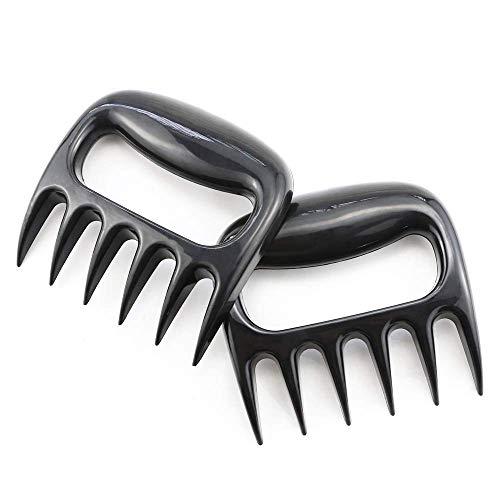 LikePET Bear Paws Zerkleinerungsklauen stärkster Grill-Entferner für Grill, Zerkleinerungsklauen, leicht zu Heben, zu spalten, gehackt, sicher und Nicht Ihre Hand verletzt. 2 Stück, Schwarz