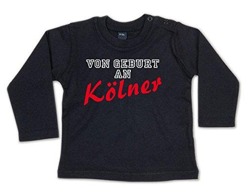 G-graphics Von Geburt an Kölner Baby Sweatshirt 268.0117 (3-6 Monate, schwarz)