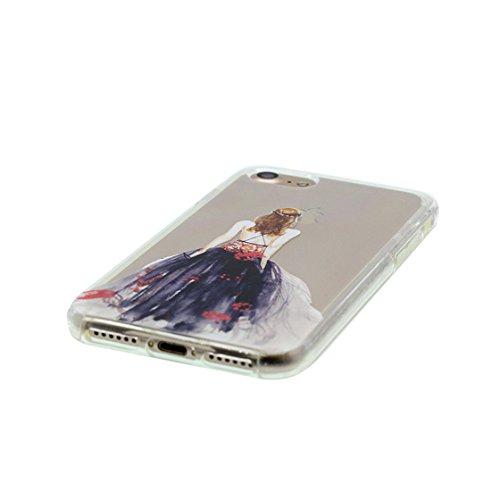 iPhone 6 Plus Custodia, Visualizza chiaro Ultra sottil Silicone Cover Shell Semplice Progettato per iPhone 6s Plus Copertura (5.5 pollici), iPhone 6S Plus Case - unicorno unicorn color 2