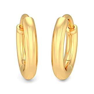 BlueStone 22k (916) Yellow Gold Arabelle Kids Hoop Earrings