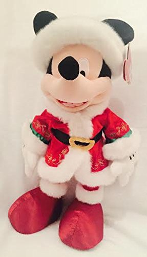 Disney Authentic - Weihnachten Mickey Mouse weichem Plüsch Puppe in sehr detaillierte Santa (Mickey Kostüme Mouse Authentic)