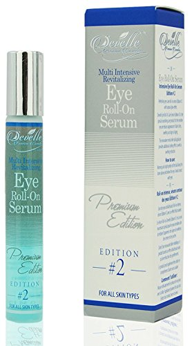 Develle Eye Roll On Blue Augenserum 10 ml. Premium Edition gegen Tränensäcke und Augenringe/Augenlifting/Anti Falten Augenserum/Anti-Aging Serum