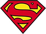 SUPERMAN Logo Sticker autocollant, Officially Licensed DC Comic Superhero Originals Artwork Création, 4' x 5.5' - Long Lasting Sticker autocollant DECAL L'AUTOCOLLANT