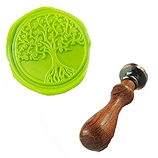 MDLG Vintage Tree of Life Custom Bild Logo Hochzeit Einladung Wachssiegel fadensiegelung Stempel Set Kit Stamp Only
