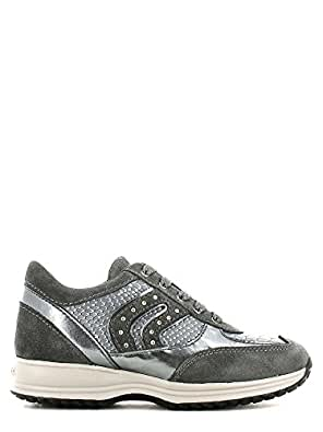 Camoscio Geox it Sneaker GrigioAmazon ModHappy In Bambina 34q5jLRA
