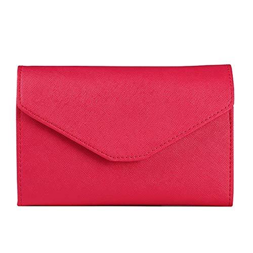 Red Tri-fold Wallet (euwanyu Multi-Purpose Travel Wallet RFID Blocking Passport Wallet Travel Document Organizer Holder Tri-Fold Credit Card Wallet (red) (Red))