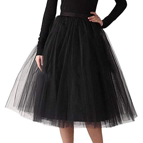 fe5f6e4c2e2 Minetom Mujer Niña Faldas Cortas Tubo Moda Lujo Suave Gasa Mini Falda Tutú  del Ballet Múltiples