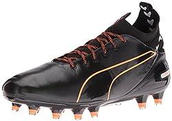 PUMA Men s Evotouch Pro FG Soccer Shoe Puma Black/Puma Black 8 D(M) US