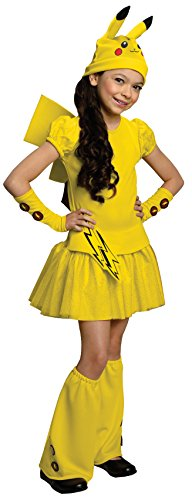Pokemon Girl Pikachu Costume Dress, Large by Rubie's