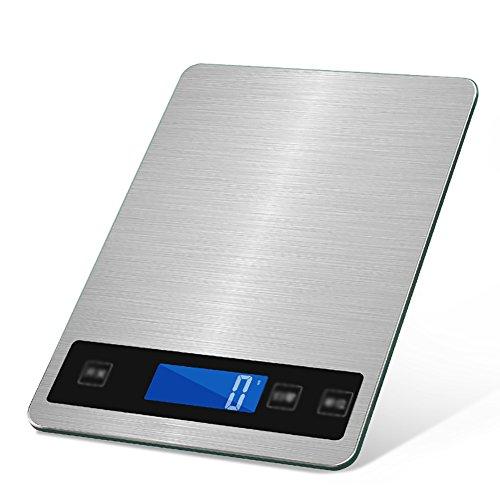 MSNDIAN Wiederaufladbare Wasserdichte Küchenwaage 15kg Haushaltsbacken elektronisch Mini-Präzisions-Gramm genannt Food Scales Elektronische Haushaltswaage klein (Kapazität : 15kg)