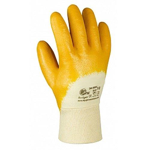 12 Paar, Nitril Handschuhe, Nitril-gelb, Gr. 9 (L), Cat.2 EN420 EN388