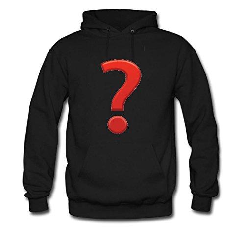 HGLee Printed Personalized Custom Emoji Stickers Classic Women Hoodie Hooded Sweatshirt Black--1