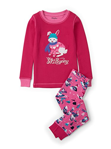 Hatley Girl's Long Sleeve Waffle Appliqué Pyjama Sets