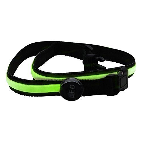 ZXJUAN 3 Watt 78 cm Grüne LED Blinkt Bund Sicherheit Reflektierende Gürtel Bund Fahrrad Laufen Hand Zubehör Trainingsanzug 1 STÜCKE LED Lichter -