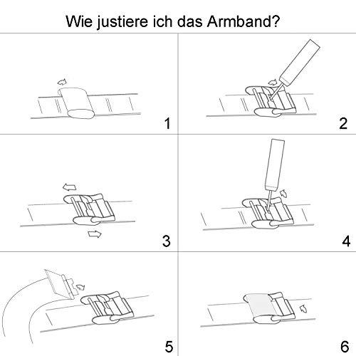 XLORDX Classic Damenuhr Analog Rosegold Edelstahl Schwarz mit Rosegold Armreif