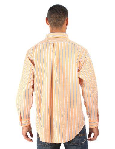 Ralph Lauren - Herren Anzughemd gestreift - klassischer Schnitt - Orange/Blau/Weiß Orange/Blau/Weiß