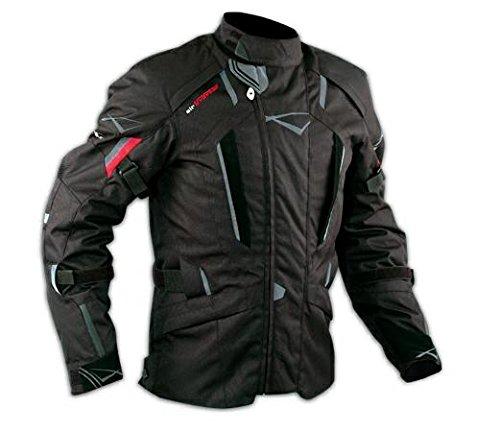 Giacca Touring Moto Cordura Protezioni CE Sfoderabile Impermeabile Nero L
