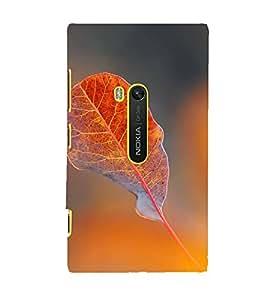 Fuson Designer Back Case Cover for Microsoft Lumia 950 :: Nokia Lumia 950 (Leaf Leaflet Foliage Orange Single)