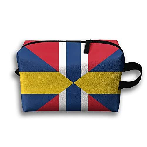 Tragbare Make-upbeutel-Flagge von Schweden-Reise-Kosmetik-Taschen für die Jungen Geschenke der Frauen -