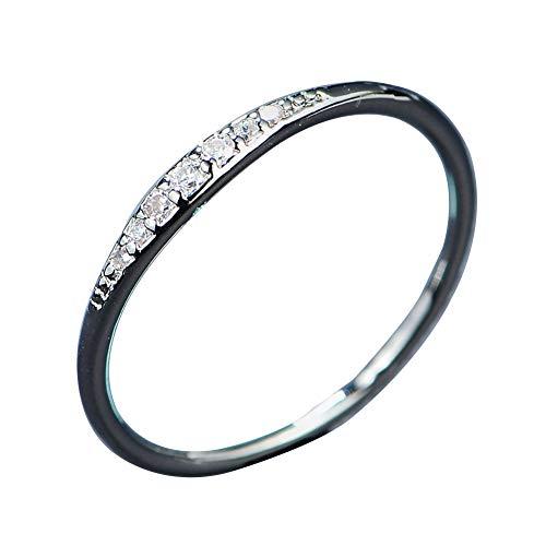 yibenwanligod Fashion Rhinestone Slim Band Party Club Zankette Finger Ring Couple Lover Schmuck-Platinum 6 - Platinum Club