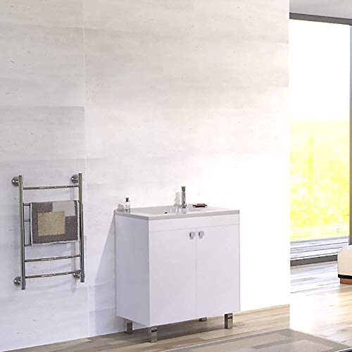 Caisson simple vasque ÉCOLINE 80 - Blanc brillant