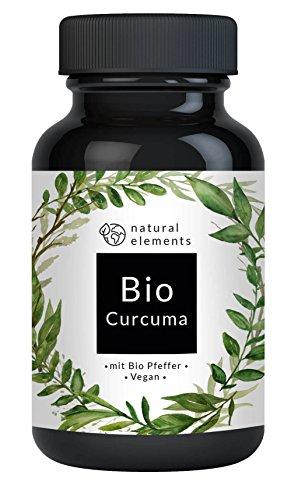 Bio Curcuma (Kurkuma) - Laborgeprüft - 3000 mg pro Tagesdosis - 180 vegane Kapseln mit Curcumin und Piperin aus Bio schwarzem Pfeffer – Ohne Zusätze – Hochdosiert und hergestellt in Deutschland (Bio-orange Ingwer)