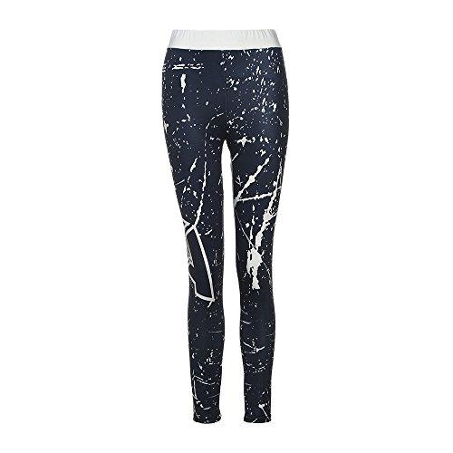 Topgrowth Donna Sky Stampato Yoga Skinny Allenarsi Palestra Ghette Fitness Sport Quick Dry Cropped Pants Marina Militare