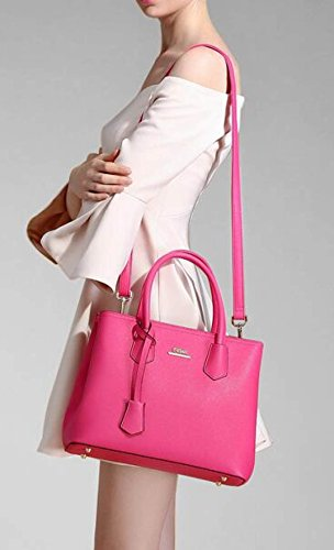 Borsa A Tracolla Tote Bag Donna Elegante Borsa Shopper Borsa A Tracolla In Pelle PU Borsa A Mano Borsa Donna Rose