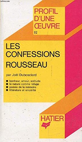 Les confessions Rousseau