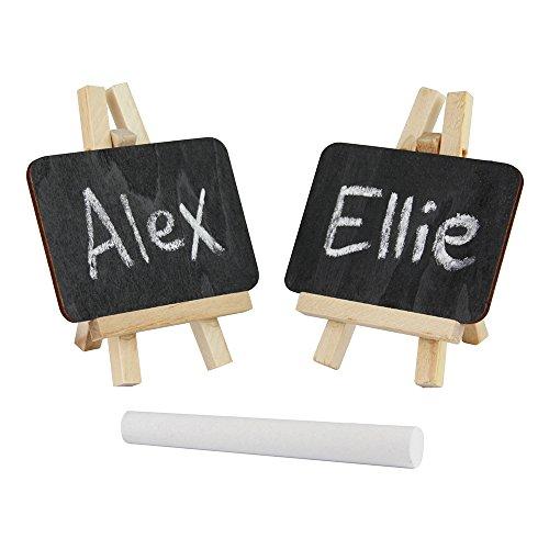 eBuyGB Mini Staffelei Kreide/schwarz board-reusable Tischkarte Name Tisch Nummer Preis (10Stück), Holz, Tafel, 10 (Kreide Board)