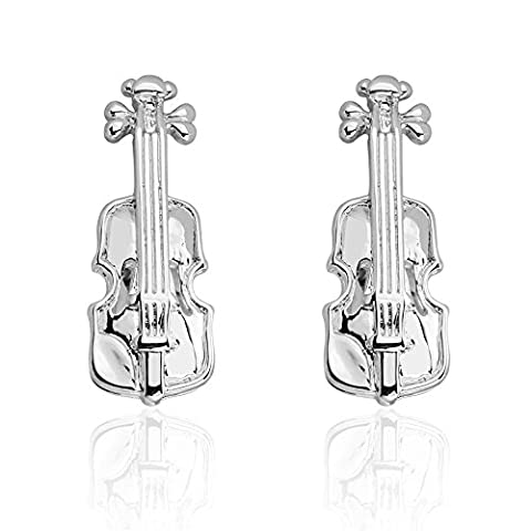 Zachary Brown Collection Violin Novelty Cufflinks (In Pouch)