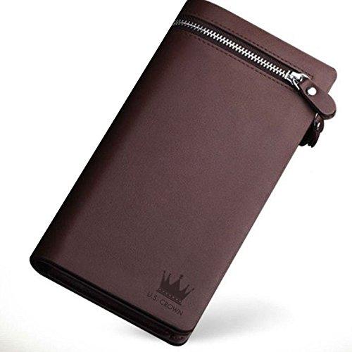 U.S. Crown Pu Leather Brown Unisex Wallet