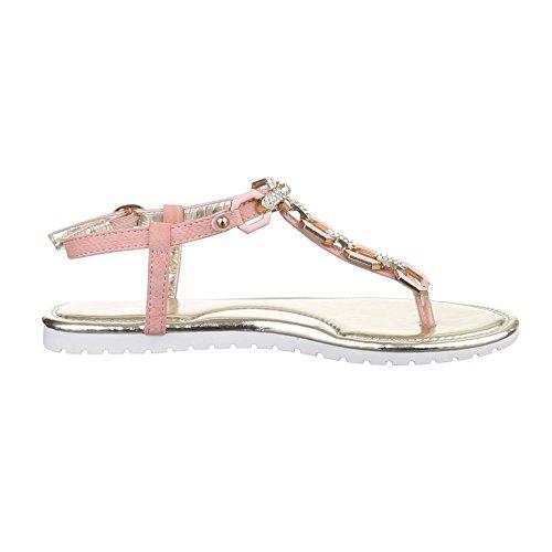 Damen Schuhe, HJ88-8, SANDALEN ZEHENTRENNER Rosa