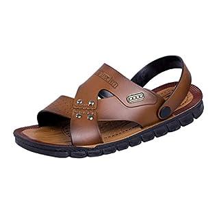 ACMEDE Men Sandals Men Flip Flop Soft Sole Anti Slip Summer Casual Beach Slippers 9 UK/Brown