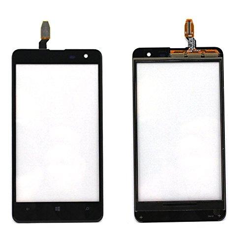 t Nokia Microsoft Lumia 625 Display Touchscreen Digitizer Glas(Ohne LCD) Ersatzteile + Klebeband & Werkzeuge (schwarz) ()