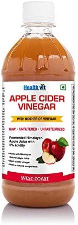 HealthVit Apple Cider Vinegar with Mother Vinegar Unfiltered - 500 ml