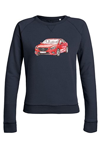 ul15 Sweat pour femmes Trips Mazda in Red Navy
