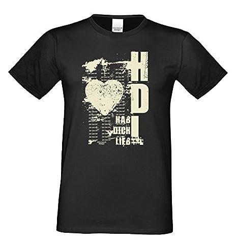 Geburtstag, Geschenk, Geburtstagsgeschenk T-Shirt Geschenkidee Hab Dich lieb für den weltbesten Papa Herrenshirt Farbe: schwarz Gr: L