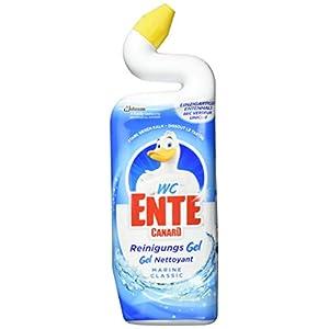 WC Ente Total Aktiv Gel Flüssiger WC Reiniger, mit Entenhals-Technologie, antibakteriell, Marine Duft, 1er Pack (1 x 750 ml)