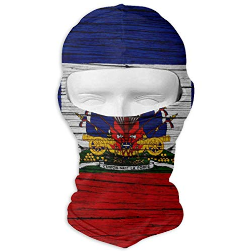 Zcfhike Haiti Wooden Texture Gait Flag Windproof Dust Protection Balaclava Full Face Mask Hood Headcover - Headcover Turban