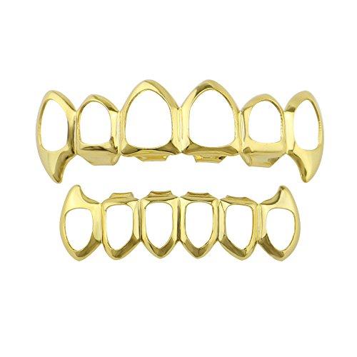 JYJM❤️ 1 Stücke Hip Hop Zähne Grillz Oberen Und Unteren Mund Zähne Grills Mode Removable Teeth Whitening Pen Kit Zahnweißstift für Zuhause Schmerzfrei Nebenwirkungen Zahnaufhellung (Rose Gold)