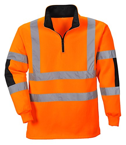 PORTWEST B308 - XENON Rugby Shirt, 1 Stück, XXL, Orange, B308ORRXXL