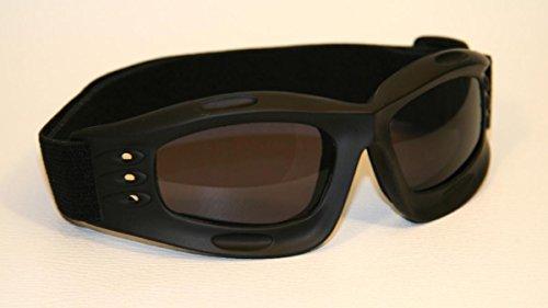 Motorradbrille, SBR Kautschuk (schwarz getönt)