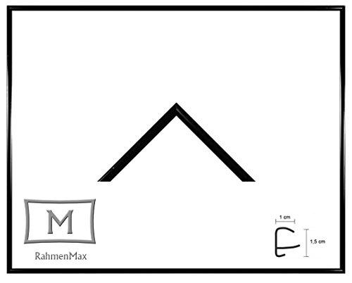 Iowa Kunststoff-Bilderrahmen 68x98 cm Posterrahmen 98x68 cm Farbwahl jetzt: Schwarz Hochglanz mit 1 mm Acryglas klar