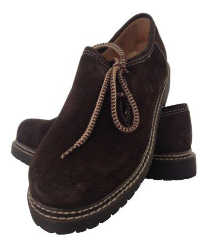 Trachtenoutfit Trachtenhose-Anzug Lederhose Trachtenanzug Trachten Hose Hemd Schuh Socke Träger echtleder Dark Braun Herren - 3