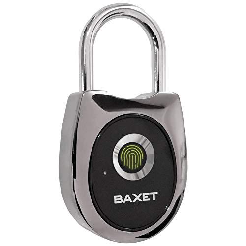 Baxet - Candado de Huella Digital - Candado antirrobo sin Llave - Impermeable Recargable por USB - Bolsa...