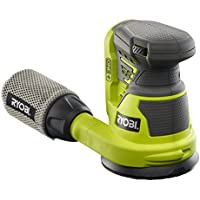 Ryobi Akku-Schleifmaschine R18ROS-0, kraftvoller Exzenterschleifer mit integrierter Staubabsaugung, Kletthaftung und ergonomischem Griff, für Feinschliff und Lackentfernung, grün, Art.-Nr. 5133002471